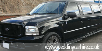 ford excursion wedding limo