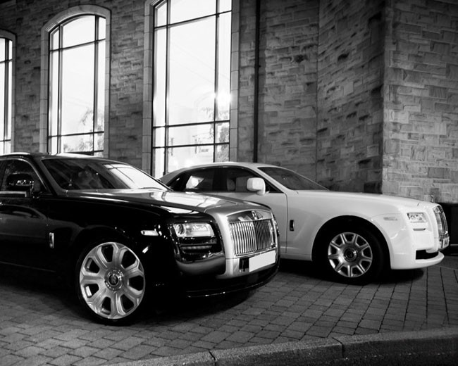 Rolls Royce Ghost (black and white)