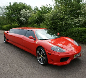 Ferrari Limo in East Midlands