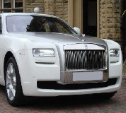 Rolls Royce Ghost - White Hire in East Midlands