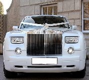 Rolls Royce Phantom - White hire  in Torquay